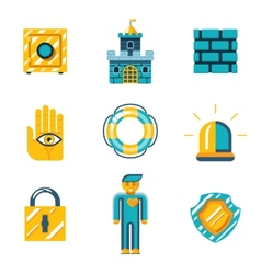 Colored Safety and Insurance Icons vector image vector image