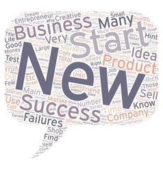 How To Start A New Business Five Major Hints text vector image vector image