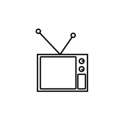 old tv icon vector image