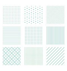 seamless simple patterns vector image vector image