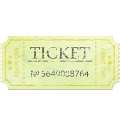 Ticket admit one vintage one EPS 8 vector image