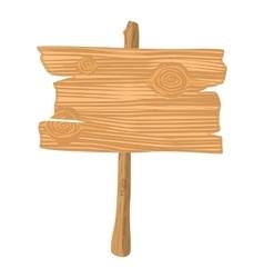 Wooden cartoon icon vector image vector image