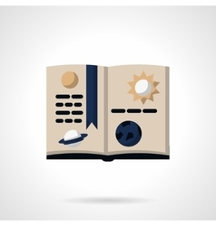 Astronomy book flat color icon vector image vector image