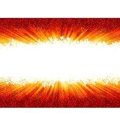 Christmas Snowflakes Frame vector image vector image