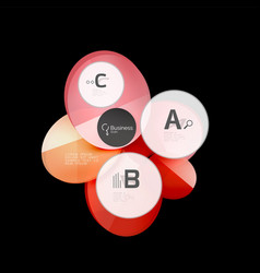 glass circle abstract background vector image vector image