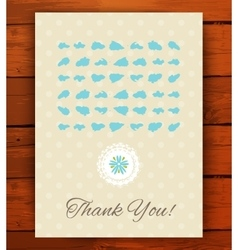Grunge vintage card with black hand drawn textures vector image