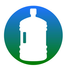 plastic bottle silhouette sign white icon vector image