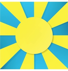 sun symbol on blue background vector image vector image