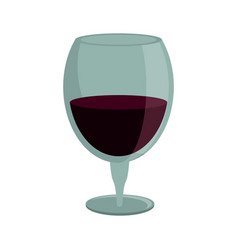 drinking glass wine icon vector image