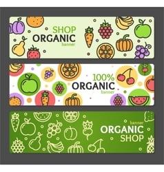 Eco Shop Banner Horizontal Set vector image