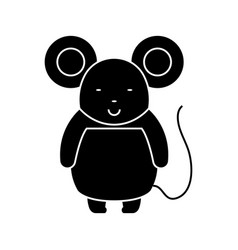 mouse cute icon black sign vector image vector image