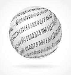Music globe vector image vector image