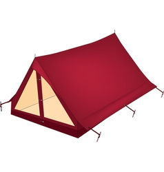Red tent vector image vector image