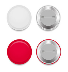 set of colorful mockups of white badges vector image