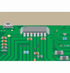 Surface mount technology printed circuit board vector image
