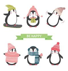 ute penguins set vector image vector image