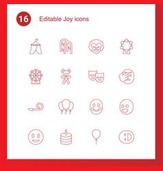 16 joy icons vector