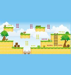 2d tileset platform game 31 vector