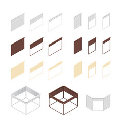 3d boxes of rolling shutters vector image