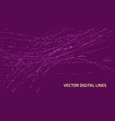 abstract digital lines vector image