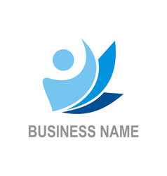 Active people business logo vector