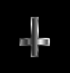 an inverted cross- the cross of saint peter vector image