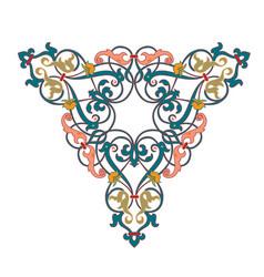 Arabic floral seamless border traditional islamic vector