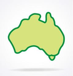 australia map simplified vector image