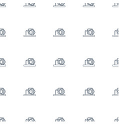 baby toy icon pattern seamless white background vector image