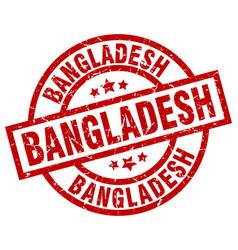 bangladesh red round grunge stamp vector image