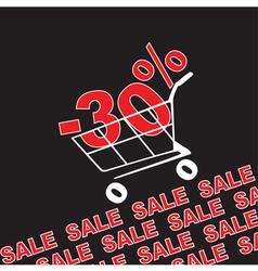 Big sale 30 percentage discount vector