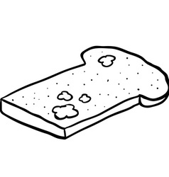 Black and white freehand drawn cartoon mouldy vector