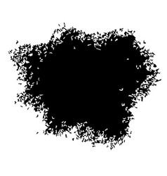 Black stain isolated on white background vector