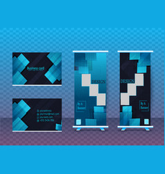 business card and banners design in one fil vector image