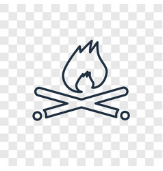 campfire concept linear icon isolated on vector image