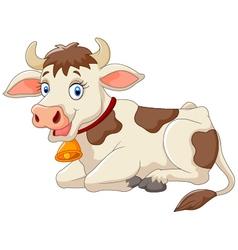 Cartoon happy cow vector