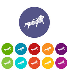 chaise icon simple style vector image