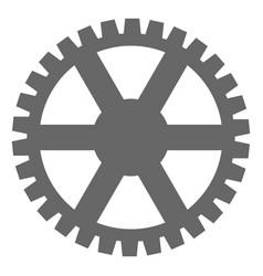 clock gearwheel flat icon symbol vector image