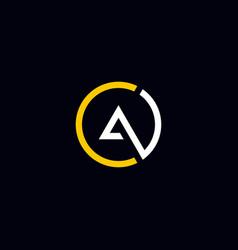 Cool and modern logo initials ac design vector