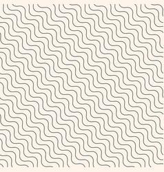 Diagonal thin wavy lines seamless modern pattern vector