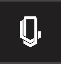 Dl logo monogram design template vector