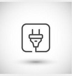 electric plug line icon vector image