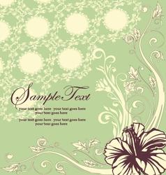 Elegant Floral Invitation card vector image