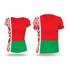 Flag shirt design of Belarus vector image