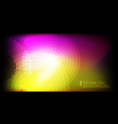 geometric colorful background vector image