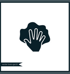 hand with rag icon simple vector image