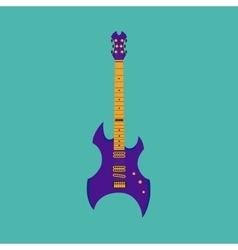 Heavy metal guitar vector