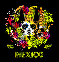 image of a dog in ethnic style mexican dog vector image