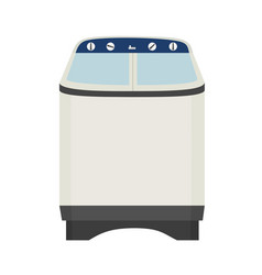 isolated electric washing machine vector image