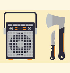kitchen knife weapon steel sharp dagger metal vector image
